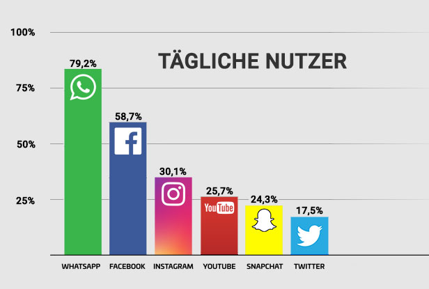 Diagramm Social Media